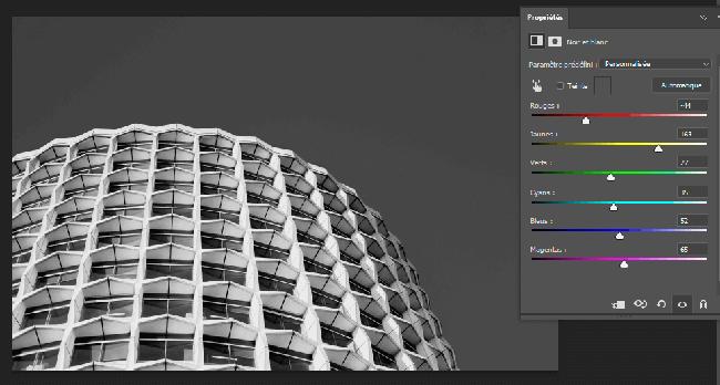 paysage noir et blanc photoshop