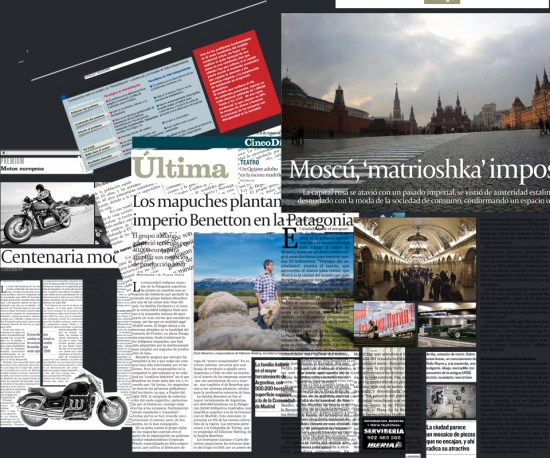 Collage de artículos publicados