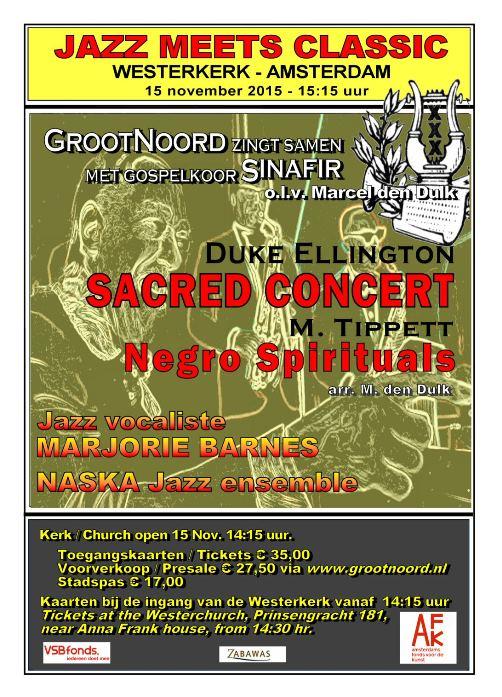 Westerkerk concert flyer