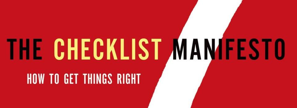 Jewish Ritual as a Checklist Manifesto