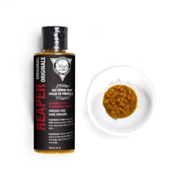 Reaper Original   Extreme Hot Sauce   Sinai Gourmet Hot Pepper Coulis