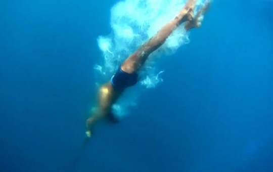 Sama Freediver with Speargun and Babet