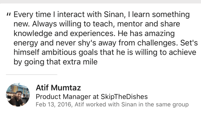 Atif Mumtaz Review for Sinan Ata