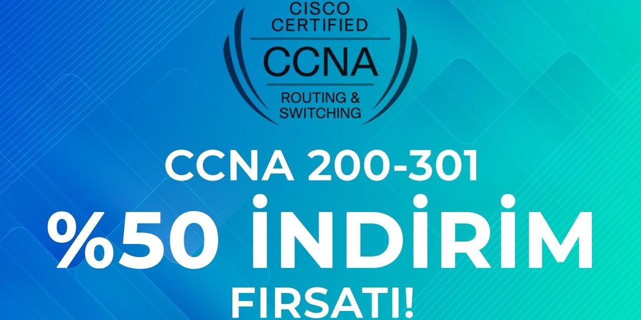 Yeni CCNA 200-301 Sınavını 26 Hazirana kadar %50 indirimle 127.5$'a  alabilirsiniz. Nasıl mı ?