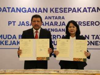 Untuk Penanganan Masalah Hukum, Jamdatun Teken Kerja Sama Dengan PT Jasa Raharja.