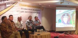 Diskusi Hukum yang digelar oleh Aliansi Masyarakat Sadar Hukum (AMSH) Indonesia, bertajuk Kejaksaan Independen, Tanpa Intervensi Politik: Kembalikan Kejaksaan Kepada Institusi Adhyaksa, di Aula Ambara Hotel, Blok M, Jakarta Selatan, pada Jumat (13/09/2019)