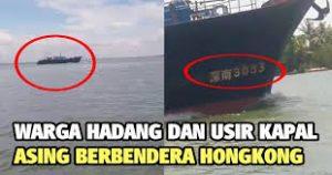 Sekjen Serikat Pekerja Migran Indonesia (SPMI), Nicho Silalahi: Beroperasi Di Tengah Wabah Virus Corona, Pengusiran Warga Langkat Terhadap Kapal China Harus Didukung. Foto: Warga Langkat, Sumatera Utara mengusir kehadiran Kapal berbendera China. (Net)