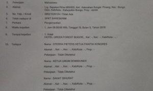 Akui Terlibat Dalam Kegiatan Ilegal Berujung Terbunuhnya Mahasiswa ITB, Relawan Rumah Millenial Indonesia Sahat Martin Philip Sinurat Juga Dilaporkan Ke Bareskrim Polri. – Foto: Laporan Wira Leonardi dkk yang merupakan korban penganiayaan dan pengeroyokan Sahat Martin Philip Sinurat dkk pada saat penyelenggaraan Kongres Ke-36 GMKI di Green Hotel, Batutulis, Bogor, Jawa Barat. Laporan dilakukan ke Bareskrim Mabes Polri pada Jumat, 12 Oktober 2018. (Ist)
