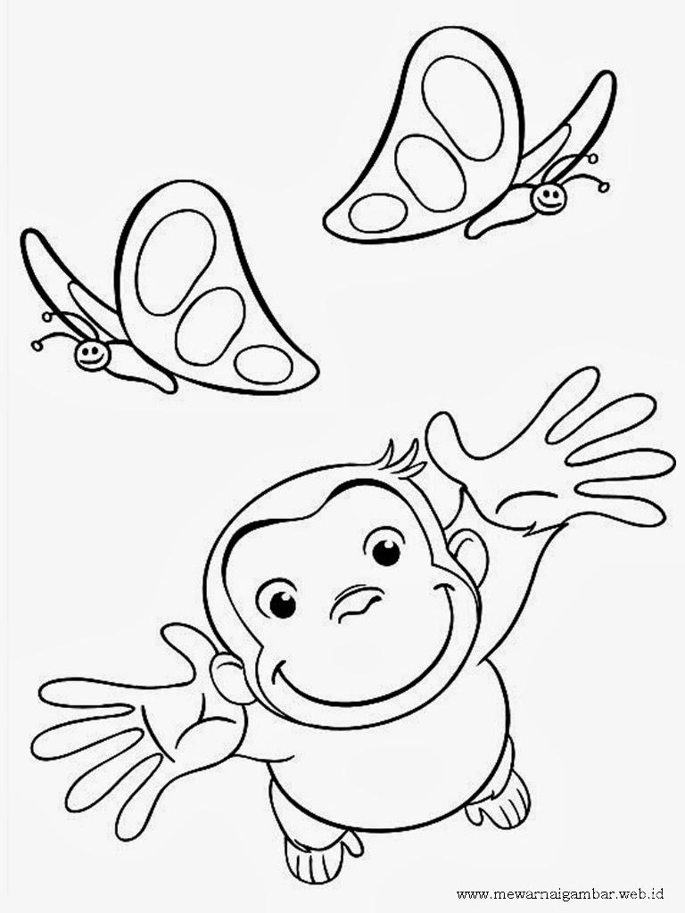 Gambar Mewarnai Anak Cowok Ika Gambar