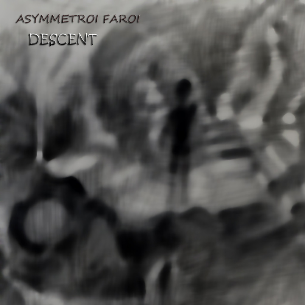 Asymmetroi Faroi, «Descent» album cover | painting by Adamantia Tsakanika