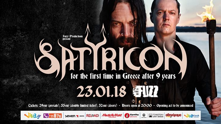 Satyricon live in Athens - 23/1/18