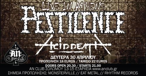 Pestilence / Acid Death Live @ An Club