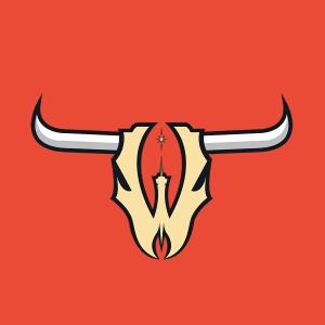 Wranglers skull logo 2