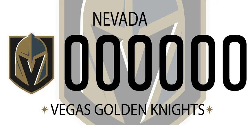 Customized License Plates >> Vegas Golden Knights Mock License Plates - SinBin.vegas