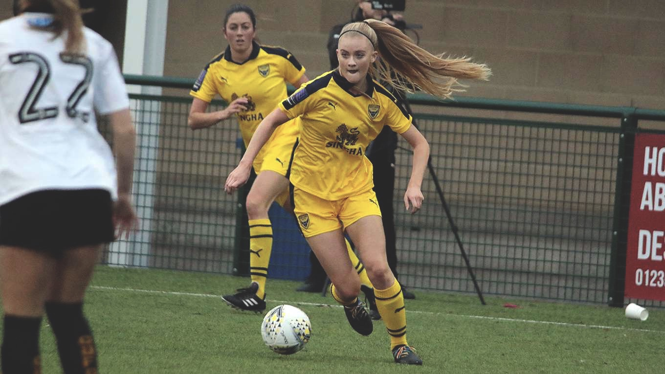 Oxford United's Evie Gane against Cambridge in the FA Cup
