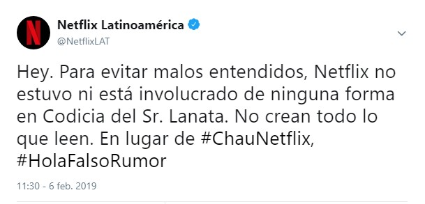 Netflix desmiente a Lanata