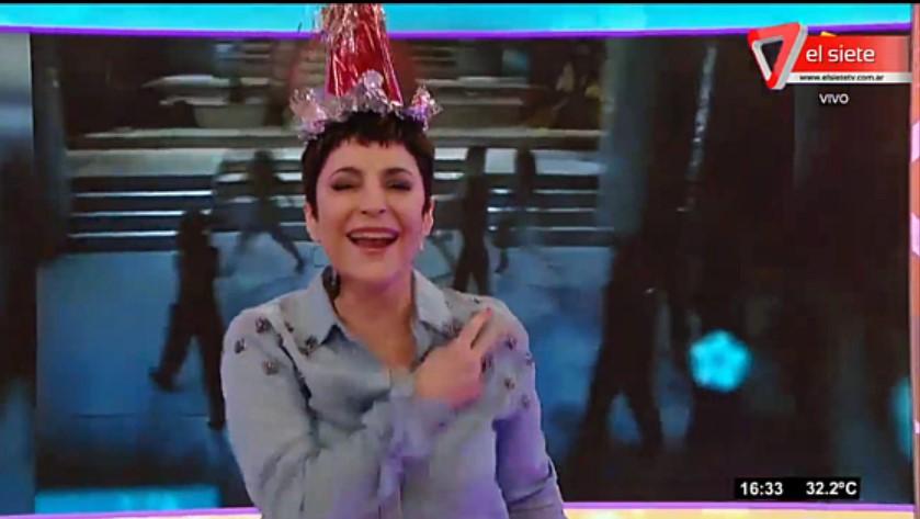 [VIDEO] LA PAPALEO LE CELEBRÓ EL CUMPLE A LA JEFA EN VIVO POR AMÉRICA