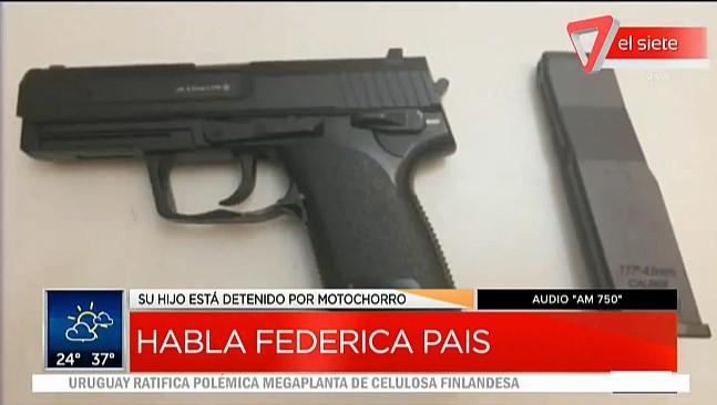 [VIDEO] LA PALABRA DE FEDERICA PAIS LUEGO DE LA DETENCIÓN DE SU HIJO