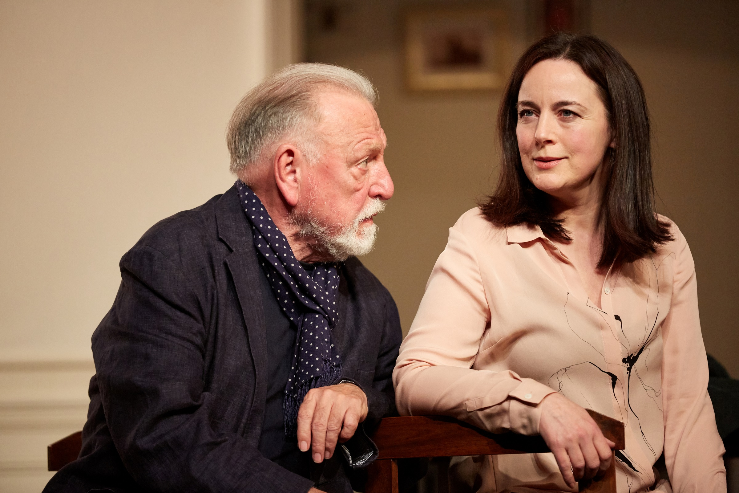 Kenneth Cranham & Amanda Drew in The Father Simon Annand