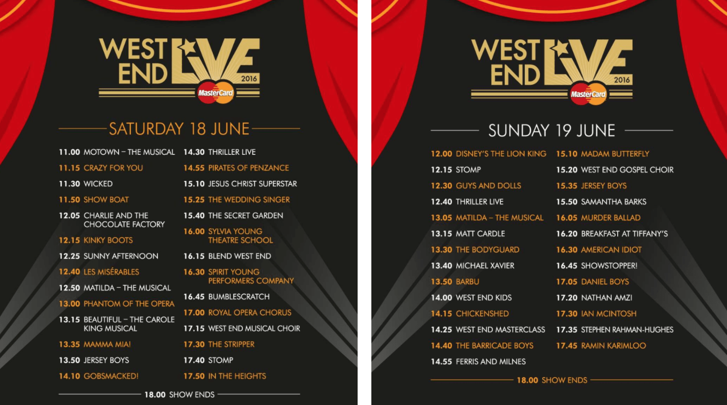 West End Live Schedule Amy Stutz