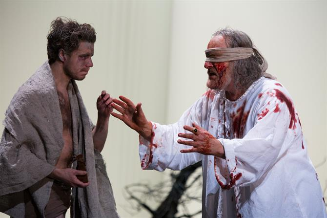 Oliver Johnstone as Edgar in King Lear