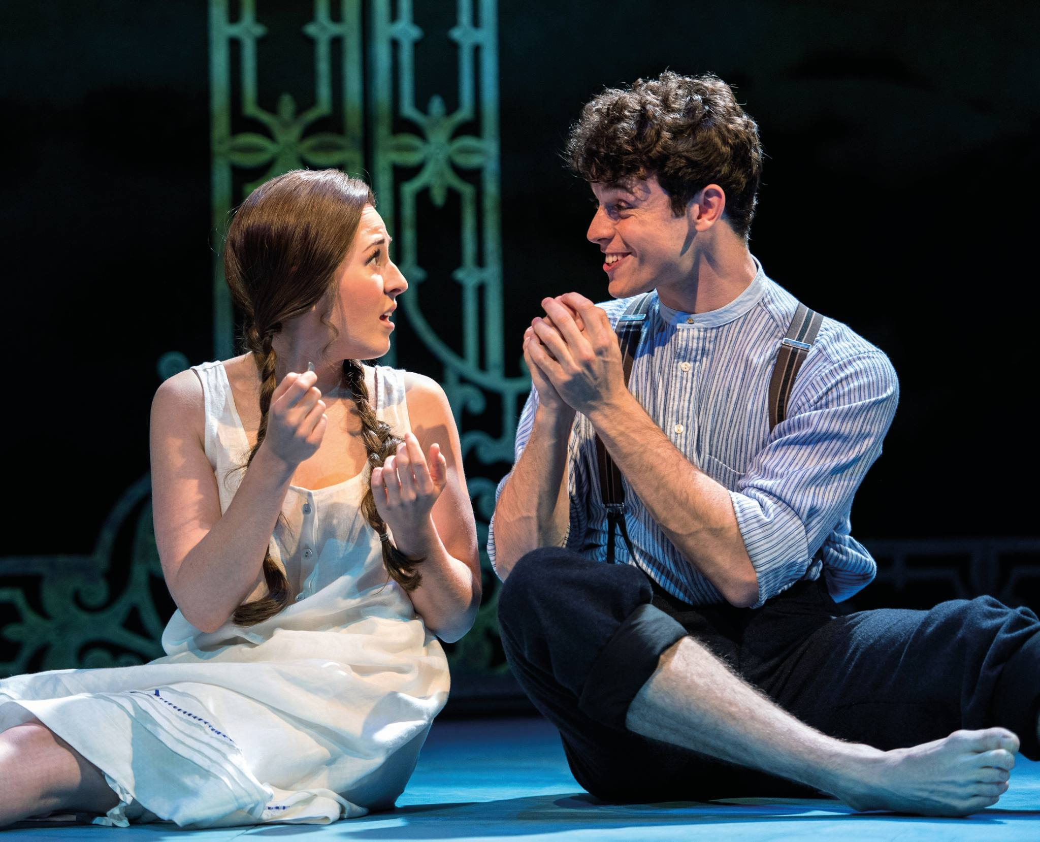 Devon-Elise Johnson as Ann Pornick and Charlie Stemp as Arthur Kipps in Chichester Festival Theatre's HALF A SIXPENCE. Photo by Manuel Harlan