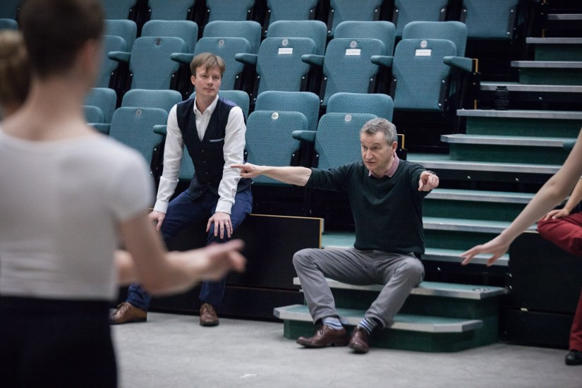 David Bintley in rehearsal at Elmhurst Ballet School; photo Ty Singleton