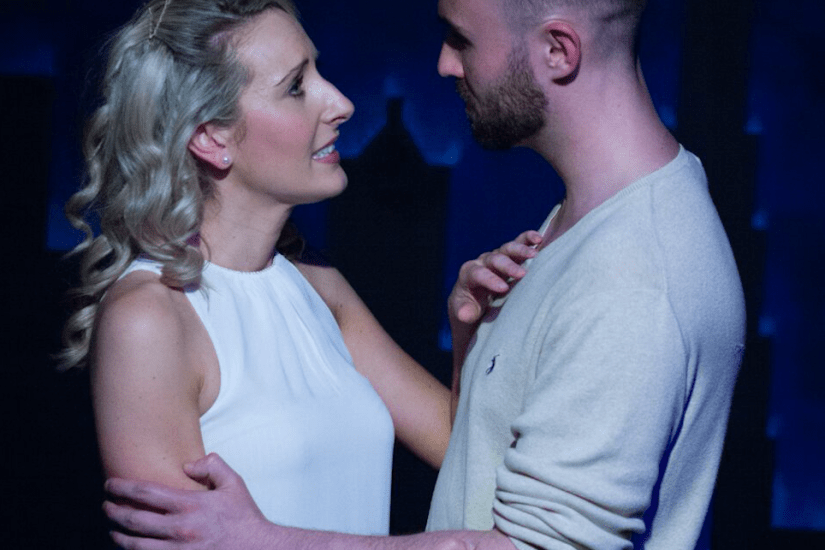 Kirby Hughes as Claire and Alistair Frederick as Jason in Ordinary Days London Theatre Workshop