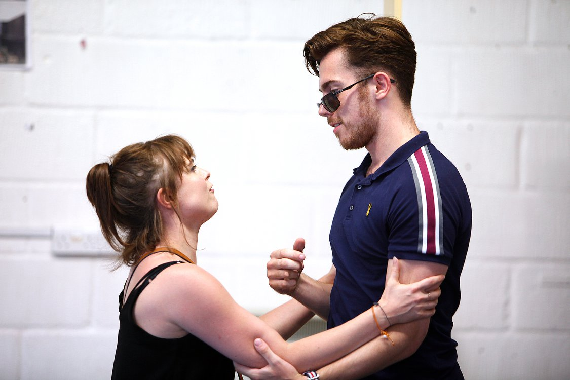 Sweet Charity at The Watermill Theatre. Gemma Sutton and Alex Cardall. Photo by Philip Tull
