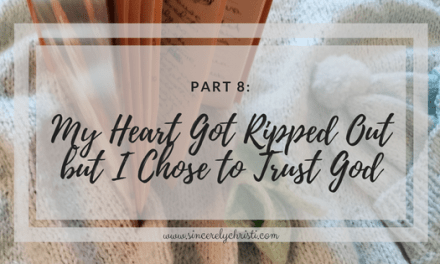 Part 8: My Heart Got Ripped Out but I Chose to Trust God