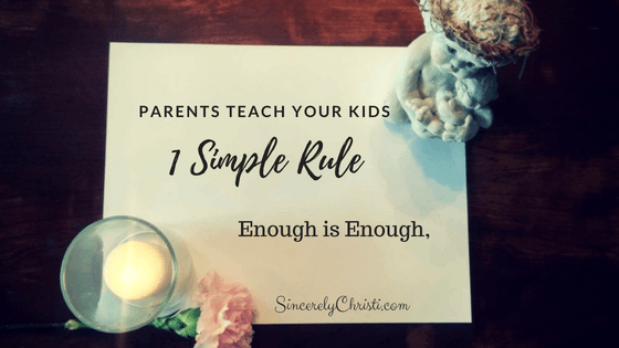 1 Simple Rule We Need to Teach Our Kids