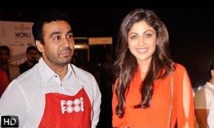 राज कुंद्रा और शिल्पा शेट्टी।