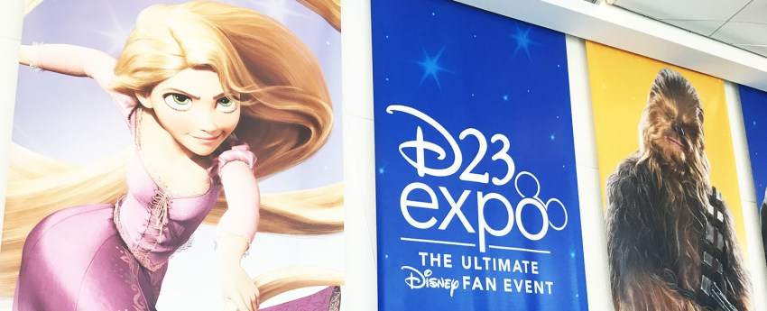D23 Expo 2019 Banner Rapunzel and Chewbacca