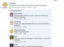 disney princess beef fake conversation on facebook | Sincerely, Fats