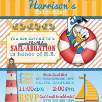 A Donald Duck Nautical Birthday Party