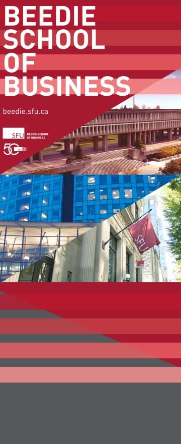 SFU 50th anniversary banner design sample
