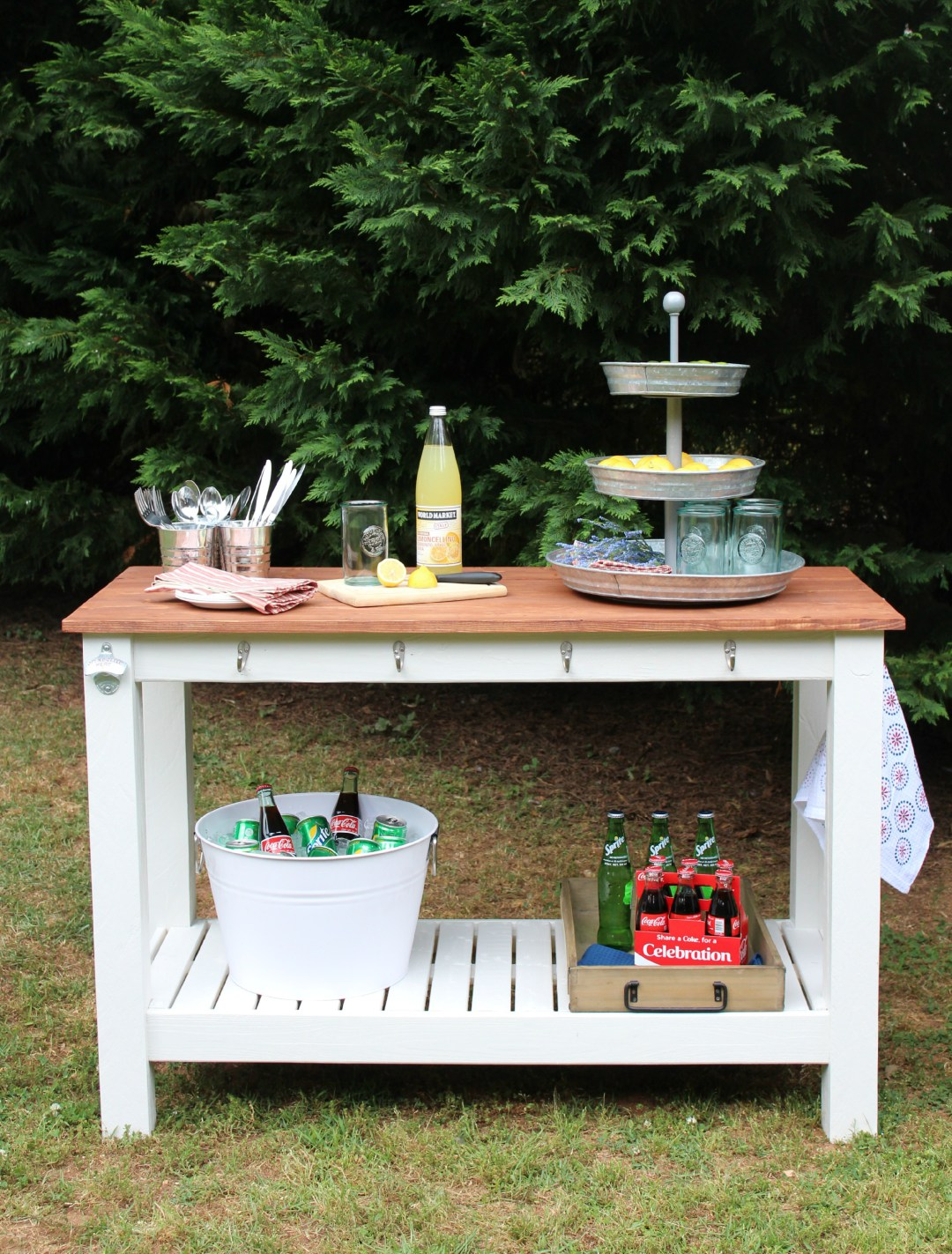Pottery Barn Inspired Outdoor Buffet Sincerely Marie