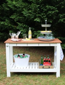 Pottery Barn Outdoor Buffet Tables