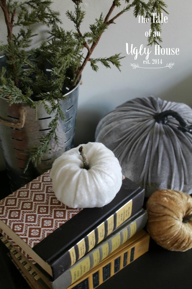 $1 Store Pumpkin Turned Velvet Pumpkin