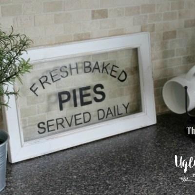 DIY Glass Pie Sign