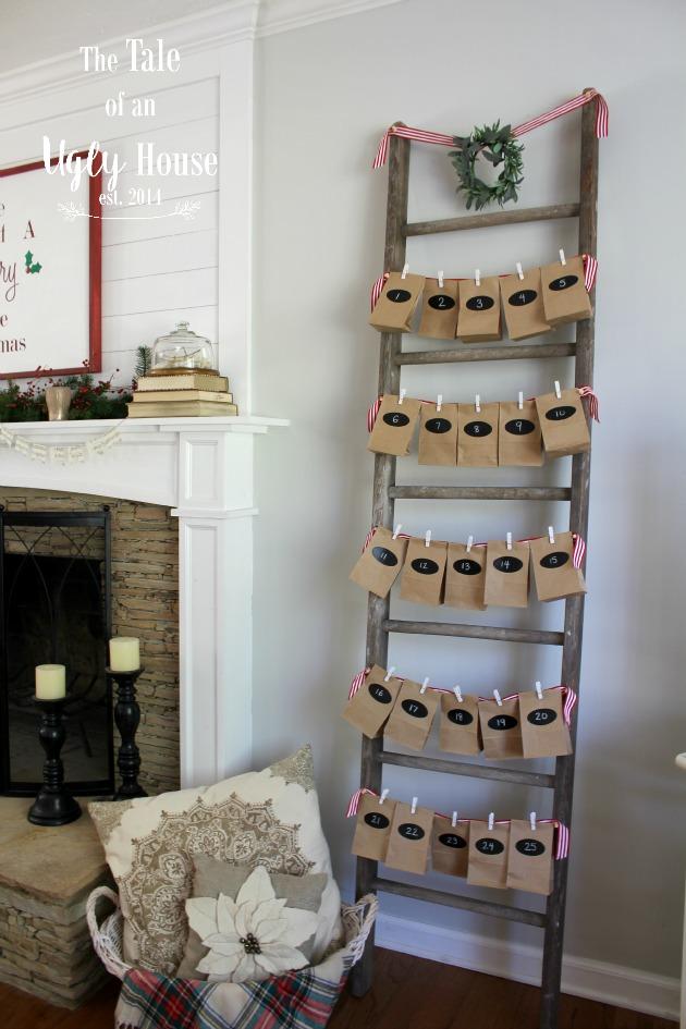 $10 Advent Ladder Calendar
