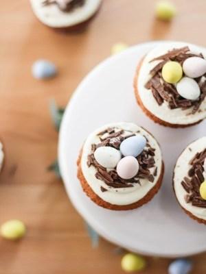 Cadbury Egg & Chocolate Nest Cupcakes