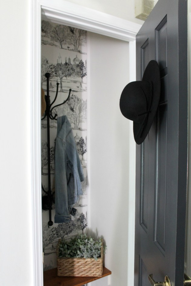 The perfect little coat closet makeover