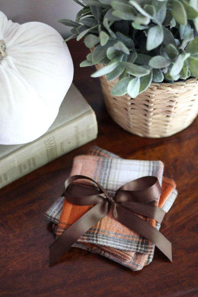 DIY Fall Flannel Coasters