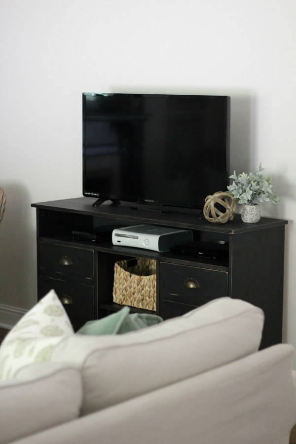 Pottery Barn Inspired Printer TV Stand