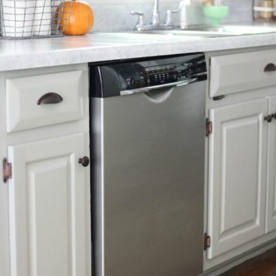Our Dishwasher Makeover With Liquid Stainless Steel