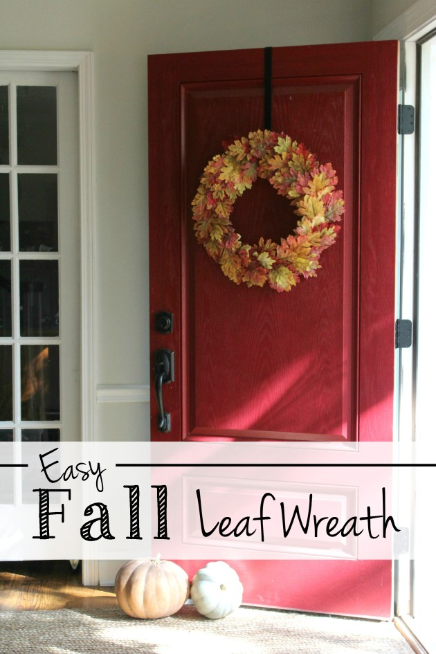 An Easy & Full Fall Wreath