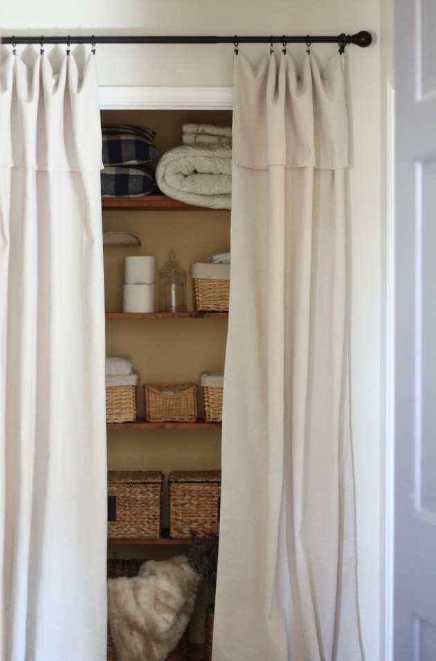Closet Door Alternative Easy Drop Cloth Curtains