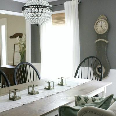 Vintage Inspired Dining Room Makeover