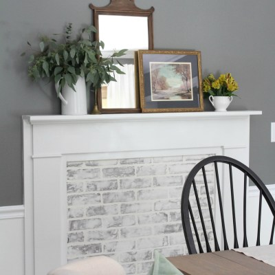 DIY Faux Fireplace with German Smear